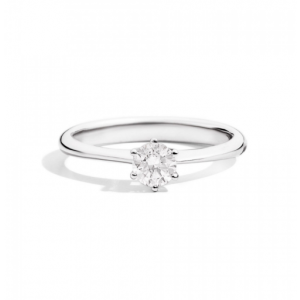 RECARLO SOFIA SOLITAIRE RING IN WHITE GOLD WITH SIX POINTS