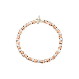 DODO BRACELET KIT WITH SILVER AND PINK GOLD GRAINS SIZE 17