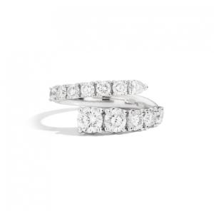 RECARLO ANNIVERSARY CONTRARIE 'RING IN WHITE GOLD AND DIAMONDS